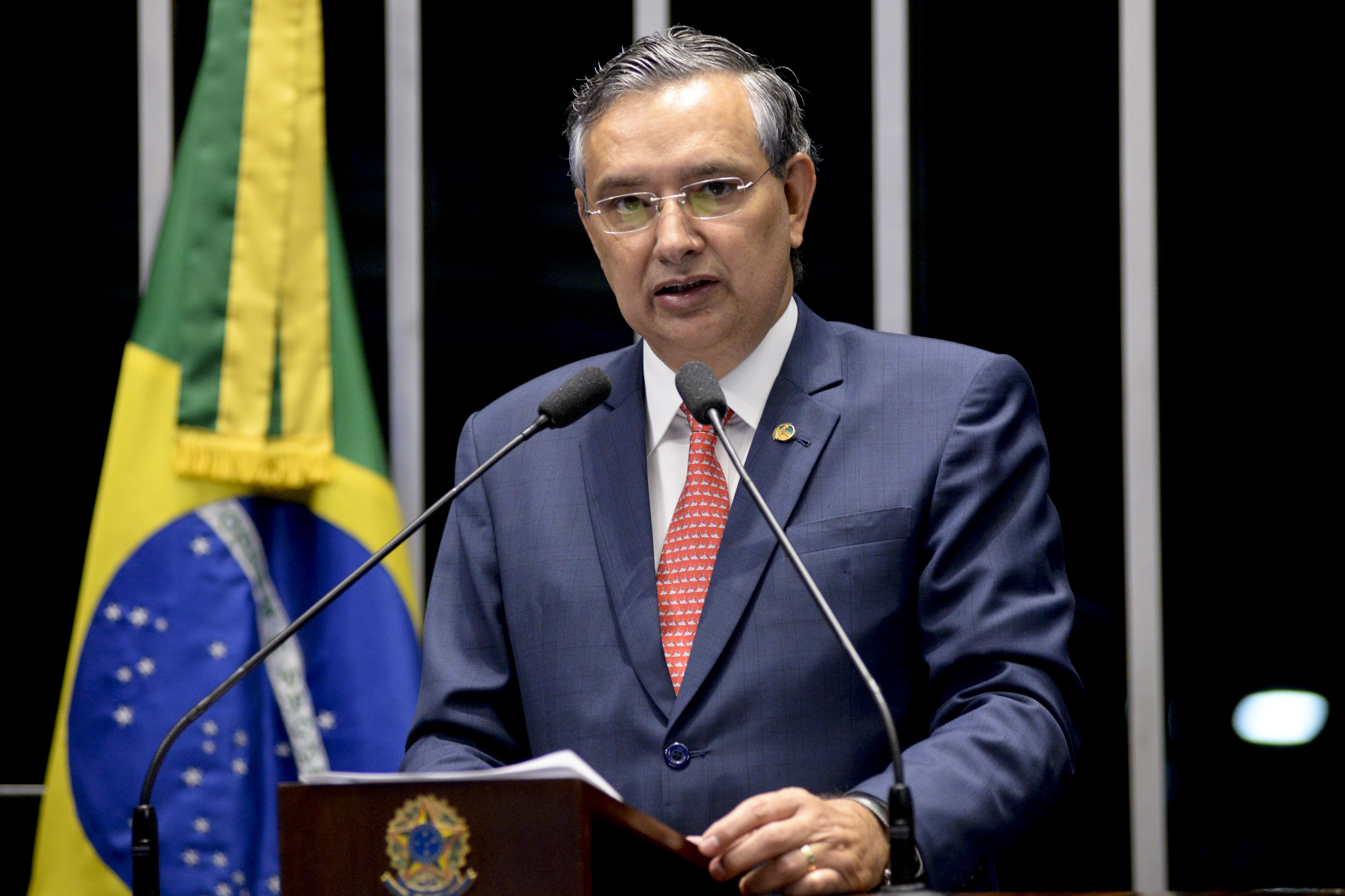 Plenário do Senado Federal durante sessão deliberativa ordinária.   Em discurso, senador Eduardo Amorim (PSDB-SE).   Foto: Pedro França/Agência Senado
