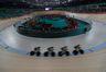 Rio de Janeiro - Equipe australiana feminina de ciclismo perseguição vence duelo pelo 5º lugar com italianas no Velódromo dos Jogos Rio 2016, no Parque Olímpico. (Fernando Frazão/Agência Brasil)