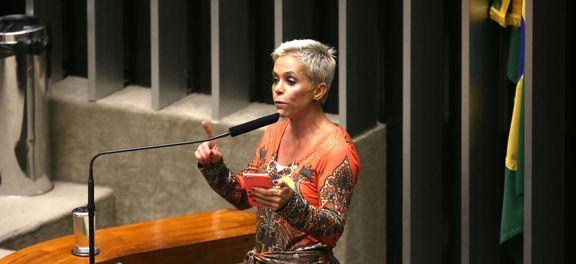 Brasília - Deputado Cristiane Brasil durante discussão da autorização ou não da abertura do processo de impeachment da presidenta Dilma Rousseff, no plenário da Câmara (Fabio Rodrigues Pozzebom/Agência Brasil)