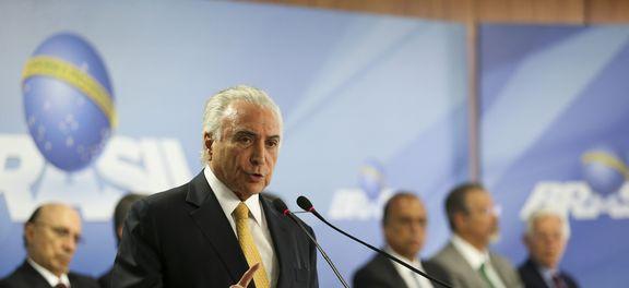 Brasília - O Presidente Michel  Temer durante cerimônia de  assinatura de decreto de intervenção federal na segurança do Rio de Janeiro (Marcelo Camargo/Agência Brasil)